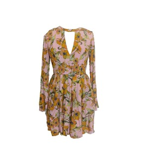 Free People short dress Pink Floral on Tradesy
