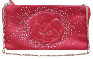 Chanel Swarovski Satin Crystals Fuchsia Clutch