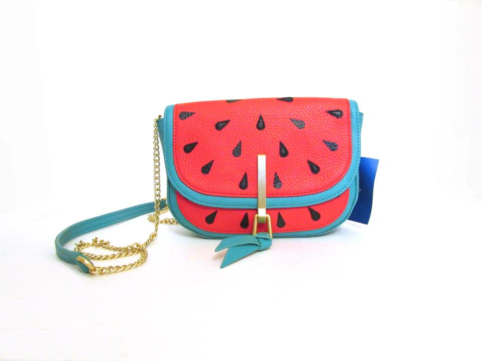 Vera Bradley Sycamore Watermelon Mini Saddle Leather Cross Body Bag ... 5cff1d7fc5ab4