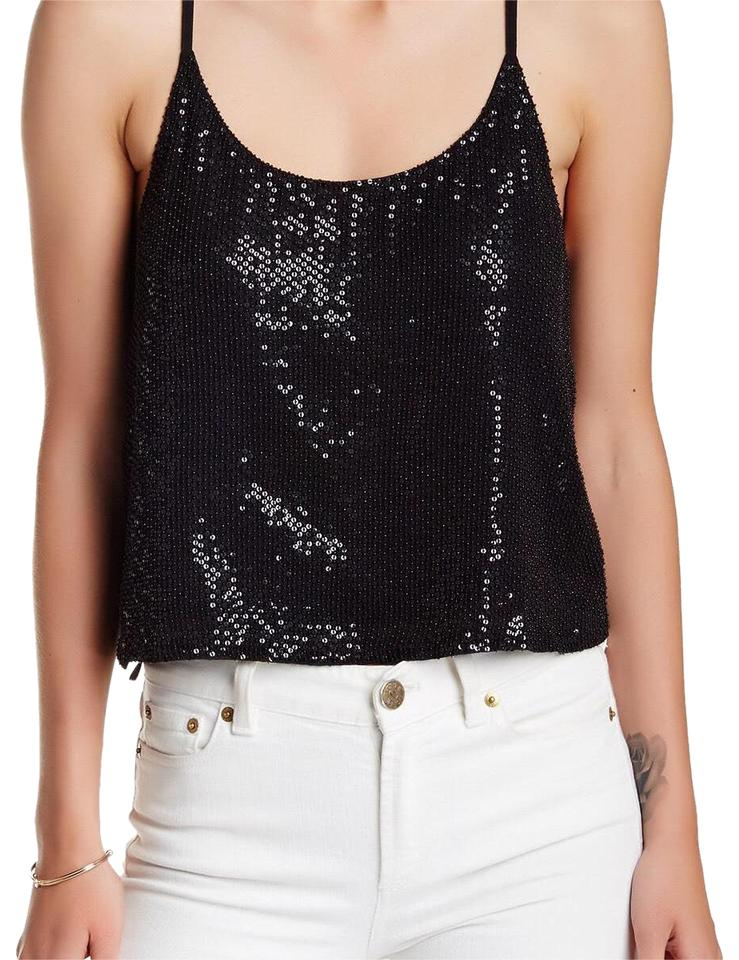 af777c99e6091 Walter by Walter Baker Black Sequin Tank Top Cami Size 6 (S) - Tradesy
