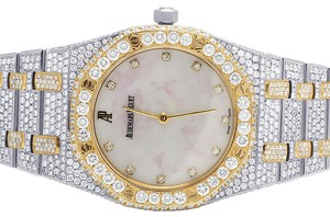 Audemars Piguet Ladies Royal Oak 33MM 18K/Steel Two Tone VS Diamond Watch 22.5Ct