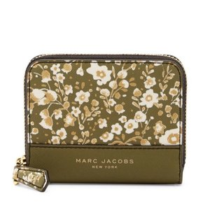Marc by Marc Jacobs Marc Jacobs Avocado Multi Floral Zip Card Case