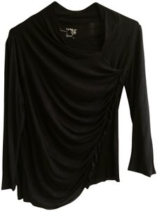 Hanna & Gracie Asymmetrical T Shirt Black