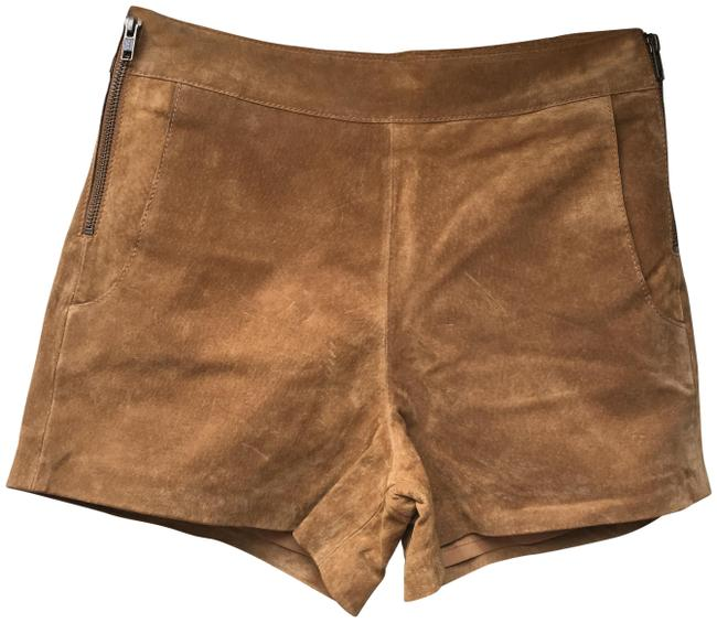 Item - Camel And Suede Leather Shorts Size 2 (XS, 26)