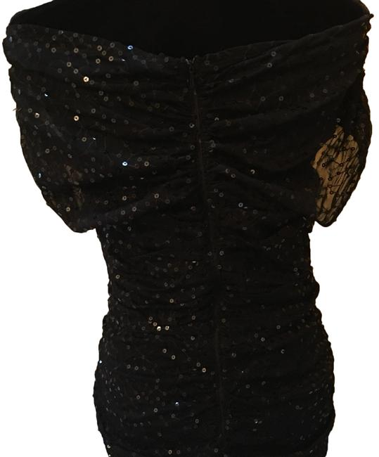 Item - Black Sequin Mid-length Night Out Dress Size 10 (M)