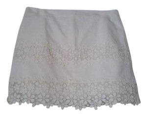 J.Crew Lace Mini Summer Wedding Mini Skirt White