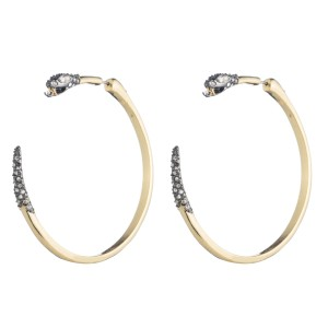 Alexis Bittar BRAND NEW Alexis Bittar Two Part Snake Hoop Earrings Crystal Pave