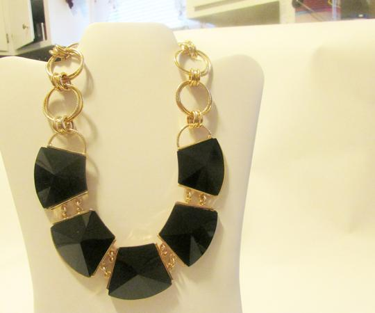 R.J. Graziano R. J. Graziano 16 Inch Black Onyx Statement Necklace with 3 Inch Extender Image 1