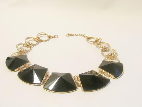 R.J. Graziano R. J. Graziano 16 Inch Black Onyx Statement Necklace with 3 Inch Extender Image 2
