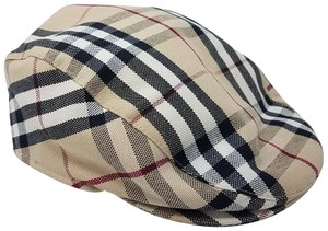Burberry Tan, red multicolor Burberry London Nova Check newsboy cap M sz