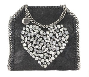 Stella McCartney Heart Shoulder Tote in Black