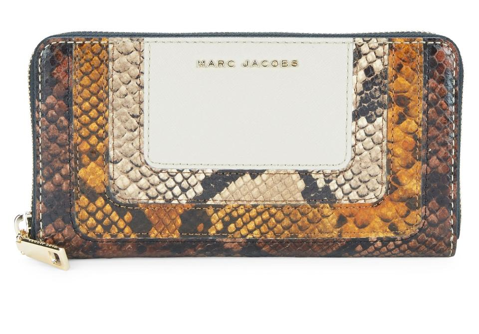 55e5e5c95b Marc Jacobs Marc Jacobs Snake Embossed Stripes Leather Standard Continental  Wallet Image 0 ...