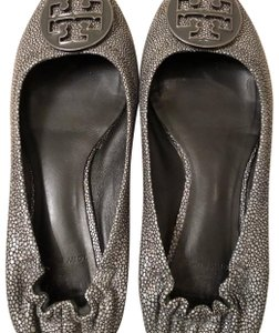Tory Burch Silver Pewter Flats
