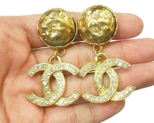 Preload https://item3.tradesy.com/images/chanel-gold-vintage-rare-rhinestone-18k-plated-cc-dangle-clip-on-earrings-2288262-0-0.jpg?width=440&height=440