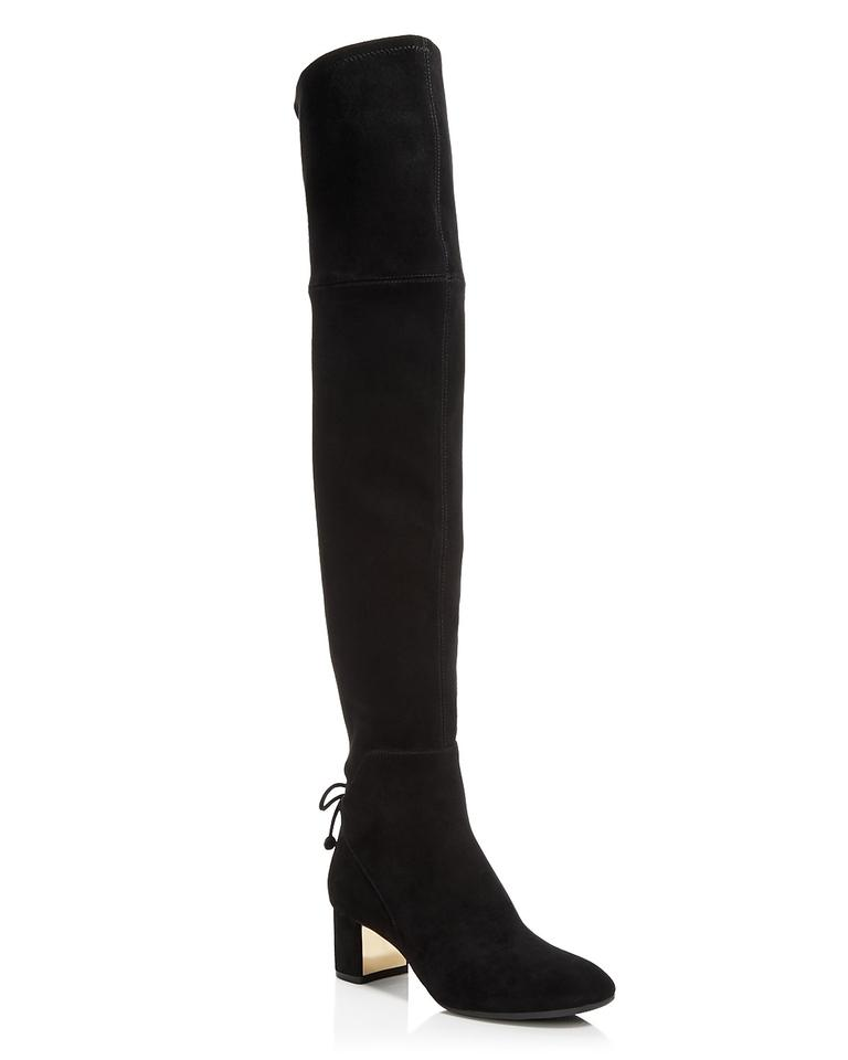 fbd42e87ce7 Tory Burch Black Nwt- Suede Laila 45mm Over-the-knee Boots Booties ...