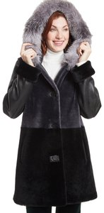Blue Duck Shearling Fur Coat