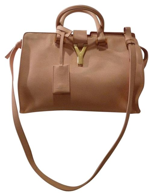 Item - Cabas Y Small Classic Peach Leather Satchel