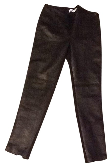 Item - Black New Real Leather Front Pants Size 4 (S, 27)