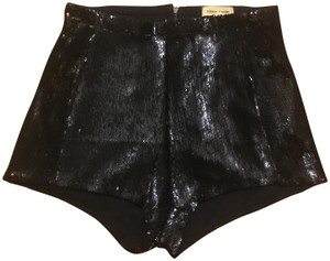 Silence + Noise Sequins Night Out Mini/Short Shorts Black