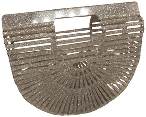 Cult Gaia Sparkly See Thru Crystals Sold Out Silver Clutch