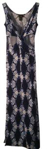 Blue white Maxi Dress by Love Love Clothing