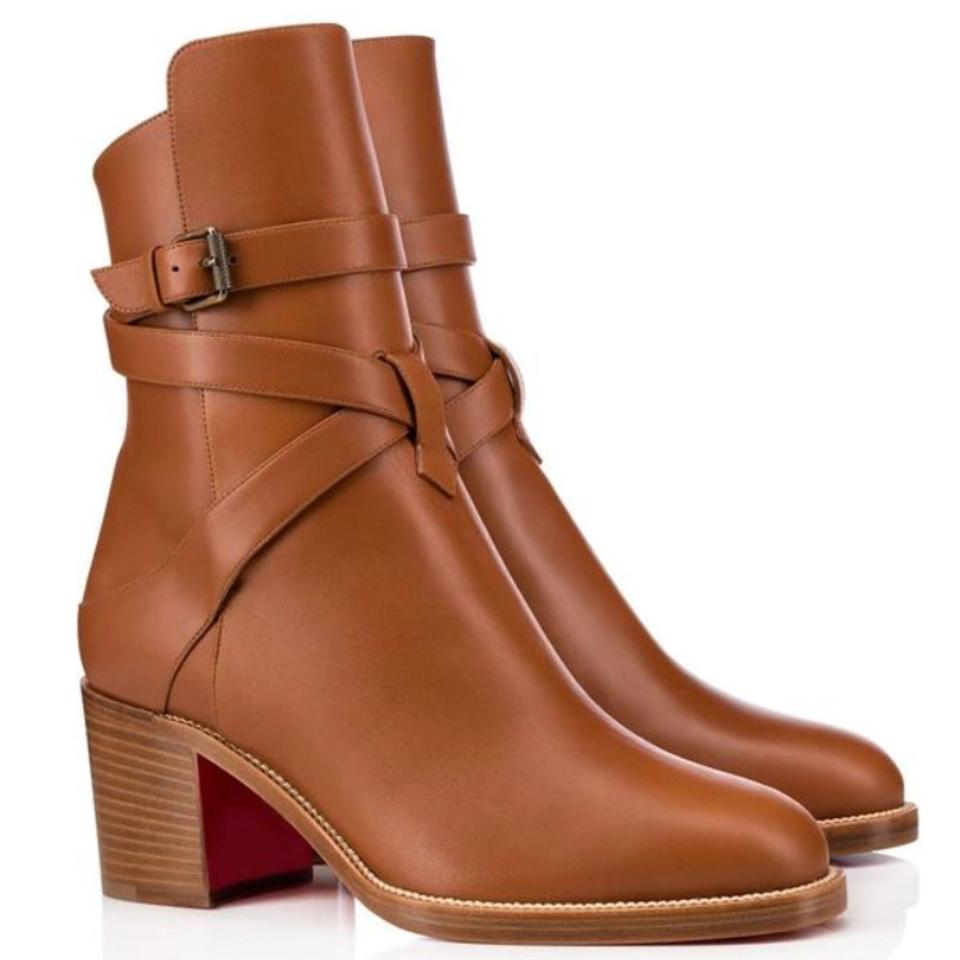 Christian Louboutin Leather Brown Karistrap Cuoio Camel Leather Louboutin Boots/Booties 0d4fcf