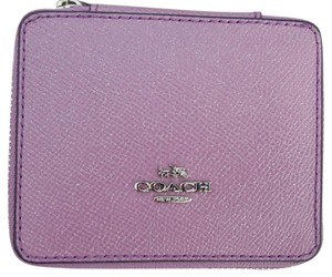 Coach Coach Crossgrain Leather Lilac with Silver Hardware Travel Box