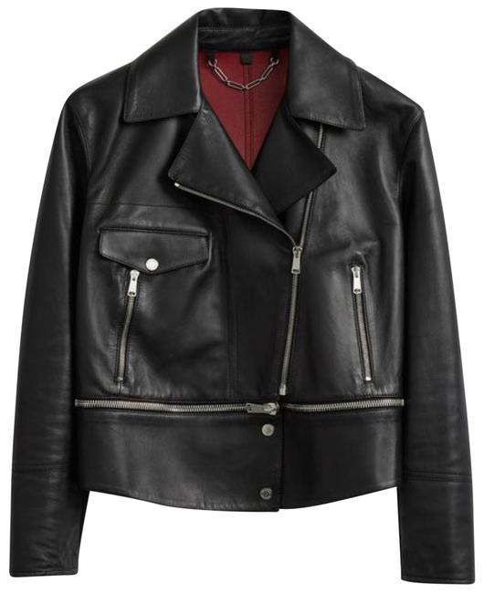 Item - Black Red Silver Avenhan Blouson Leather Woman And Jacket Size 6 (S)