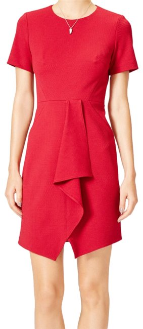 Item - Red Cambridge Mid-length Work/Office Dress Size 6 (S)