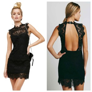 Free People Bodycon Lace Scalloped Open Sexy Dress