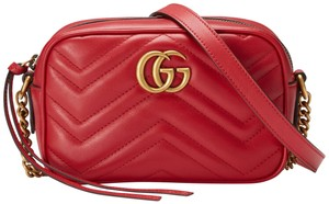 Gucci Marmont Marmont Double G Cross Body Bag