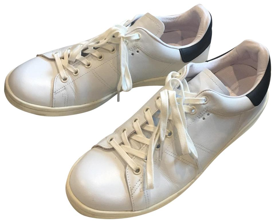 78613ff2b5 Isabel Marant White Étoile Bart Leather Sneakers Size EU 41 (Approx ...