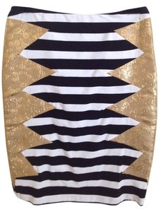 Custo Barcelona Skirt gold brocade/black/white