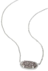Kendra Scott Brand New Kendra Scott Elisa Necklace in Silver Platinum Drusy