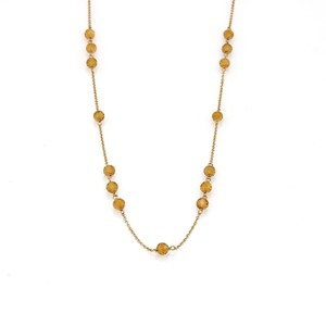 Tiffany & Co. Citrine 18k Yellow Gold Faceted Bead Chain Necklace