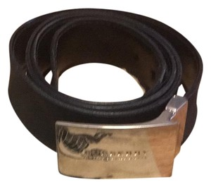 Burberry Burberry charcoal check belt