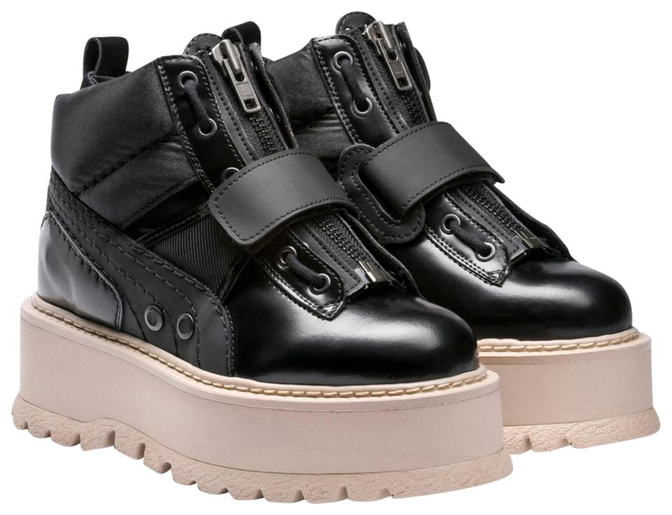 online store 6c5a7 ff352 FENTY PUMA by Rihanna Black Strapped Sneaker Boot Platforms Size US 7.5  Regular (M, B) 40% off retail