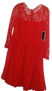 Juicy Couture Lace Scalloped Trim Dress