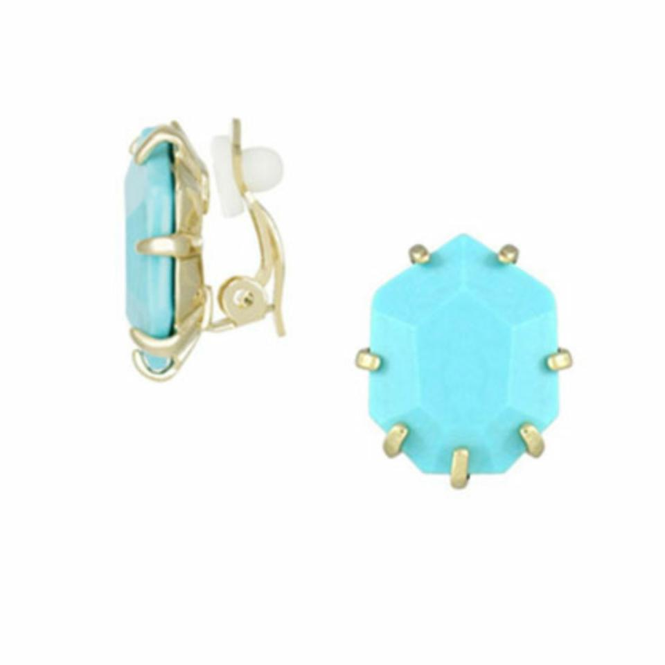 Kendra scott clip on turquoise earrings tradesy kendra scott kendra scott clip on turquoise earrings 12345678 arubaitofo Images