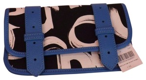 Proenza Schouler ULTI COLOR CANVAS LEATHER PS1 CLUTCH WALLET $495 ITALY