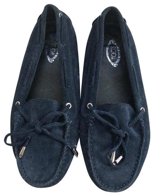 Item - Navy Suede Gommino Moccasins Flats Size US 6.5 Regular (M, B)