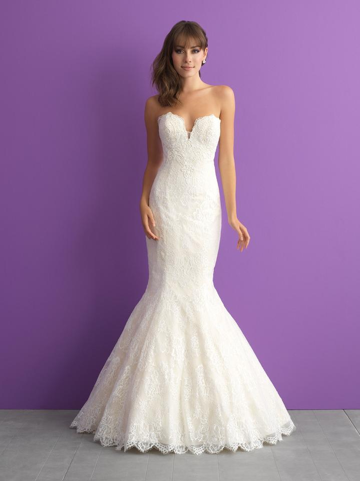 Allure Bridals Ivory Lace * New Romance Mermaid Style 3010 Formal ...