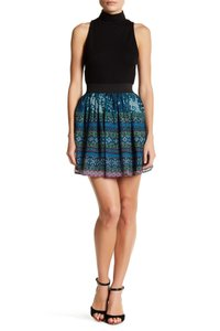 Romeo & Juliet Couture Sequin Mini Skater Cute Girly Mini Skirt Blue multi