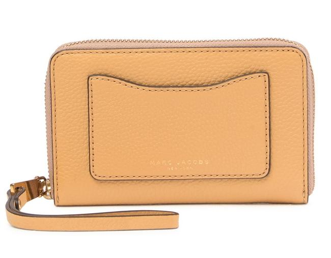 Item - Recruit Wingman Phone Wallet Golden Beige Leather Wristlet