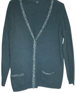 Talbots Size L Lambswool Beaded Sweater