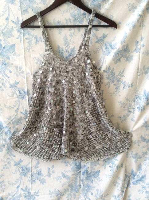 Free People Knitted Grey/White Tunic Image 1