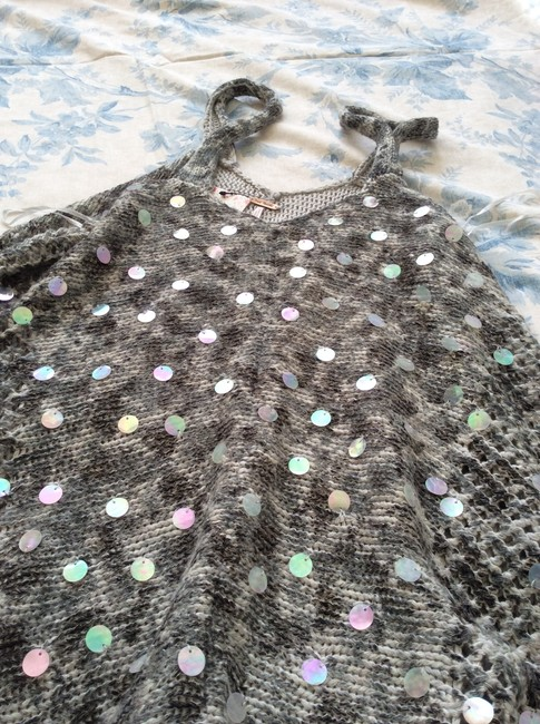 Free People Knitted Grey/White Tunic Image 4