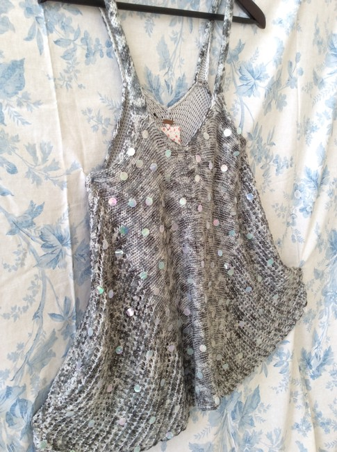 Free People Knitted Grey/White Tunic