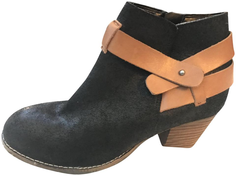 20d3accd84c Dolce Vita Straps Ankle Strap Suede Leather Side Zip black and brown Boots  Image 0 ...