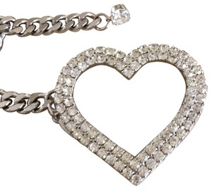 Cära Couture Jewelry Crystal heart Chain belt